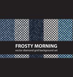 diamond pattern set frosty morning seamless tile vector image