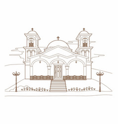 drawing of a religious building vector image