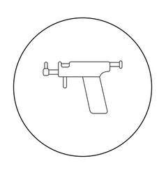 ear piercing gun icon outline single tattoo icon vector image vector image