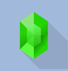emerald icon flat style vector image