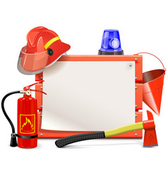 Firefighter Board vector