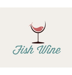 Fish in wineglass vector
