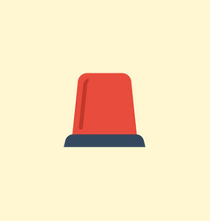 flat icon flasher siren element vector image