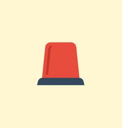 Flat icon flasher siren element vector