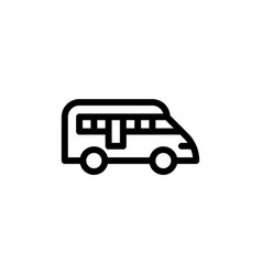 flat line bus icon symbol sign logo template eps vector image