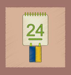 Flat shading style icon calendar ukraines vector