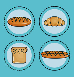 Food with carbs design vector