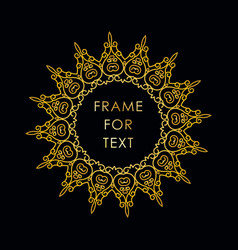 Frame in outline style on black background vector