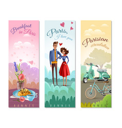 france paris vertical banners vector image