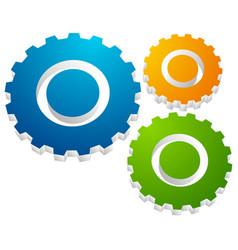 gearwheel gear icon settings configuration vector image