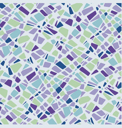 Green blue violet colors terrazzo mosaic pattern vector