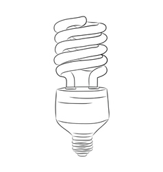 Hand-drawn lightbulb vector