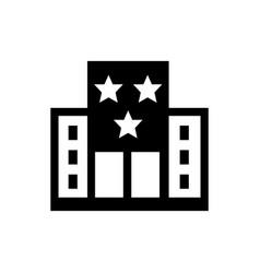 Hotel resort icon vector