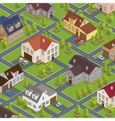 Isometric City Cityscape Buildings Houses vector