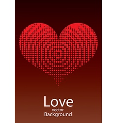 Love Red Heart Background vector image