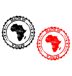 made in africa rubber stamp vector image