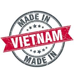 Made in Vietnam red round vintage stamp vector