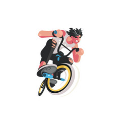 man on bicycle vector image