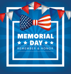 Memorial day honoring all who served with bow vector