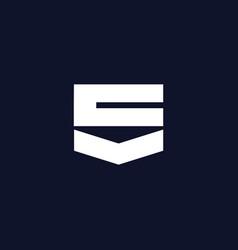 Modern and elegant sv letter initials logo design vector