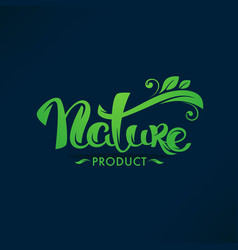 nature product organic green leaves luxury vector image
