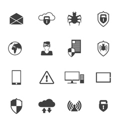 Network Security Icons vector image