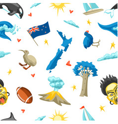 new zealand seamless pattern vector image