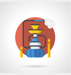 Night shisha color detailed icon vector