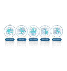online shopping infographic template vector image