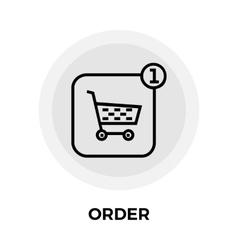 Order Line Icon vector image