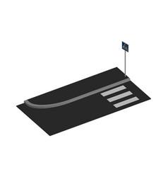 pedestrian crossing in 3d vector image