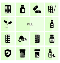 pill icons vector image