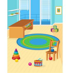 Playroom full toys vector