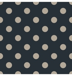 Polka dot seamless pattern on black background vector