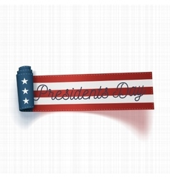 Presidents Day realistic scroll Ribbon with Text vector