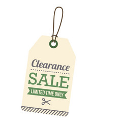 Price tag clearance sale limited time only vector