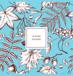 seamless pattern autumn pattern hand vector image