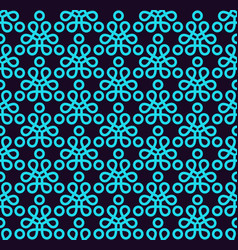 Seamless pattern ornament of lines and curls vector