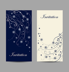 set vertical banners beautiful winter pattern vector image