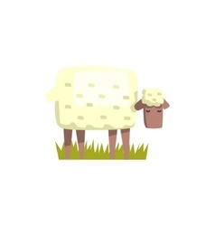 Sheep Toy Farm Animal Cute Sticker vector image vector image