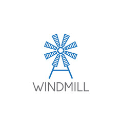 simple old farm windmill vector image