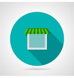 Single window canopy flat icon vector image