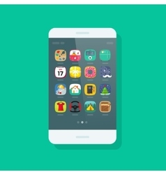 Smartphone isolated mobile phone with app vector