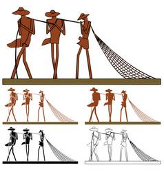 Statue to fishermen maranhao brazil vector