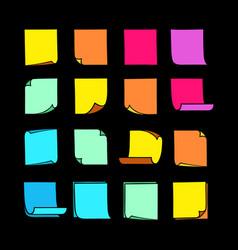 sticky notes collection-07 vector image