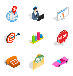 Streamline icons set isometric style vector