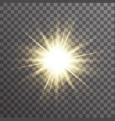 Sun light glow abstract ray starburst effect vector