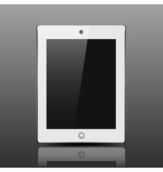 Tablet computer white color vector image