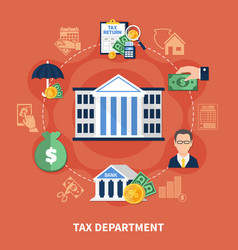 tax department round composition vector image