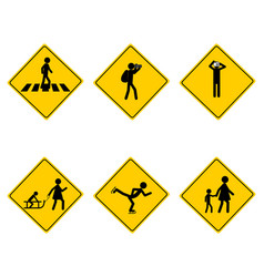Traffic warning sign for various sports vector
